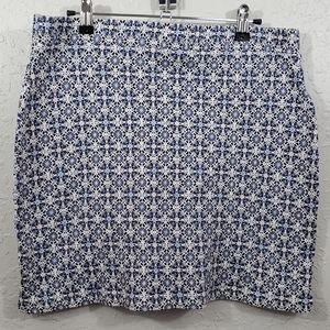 LOFT Lounge Patterned Mini Skirt.